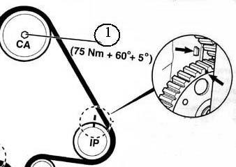 Совмещение меток на шкиве ТНВД